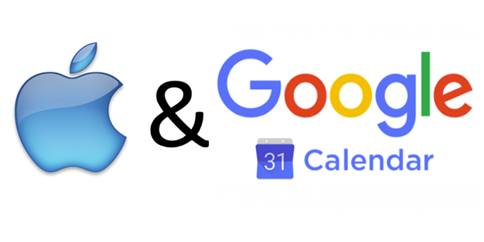 Apple mit Googlekalender